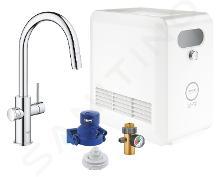 Grohe Blue Professional - Mitigeur d'évier avec unité réfrigérante et filtration, douchette extractible, chrome 31325002