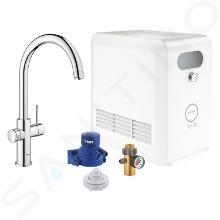 Grohe Blue Professional - Mitigeur d'évier avec unité réfrigérante et filtration, chrome 31323002