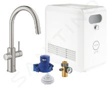 Grohe Blue Professional - Mitigeur d'évier avec unité réfrigérante et filtration, douchette extractible, supersteel 31325DC2