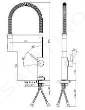 Paffoni Light Exclusive Edition - Keukenkraan met flexibele uitloop, zwart nikkel/zwart mat LIG179NKNNO