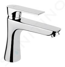 Novaservis Ferro Algeo Square - Miscelatore da lavabo, con sistema di scarico, cromo 82003,0