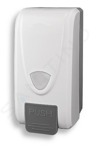 Novaservis Hygienický program - Zásobník tekutého mydla, 1000 ml, biela/sivá 69083,1