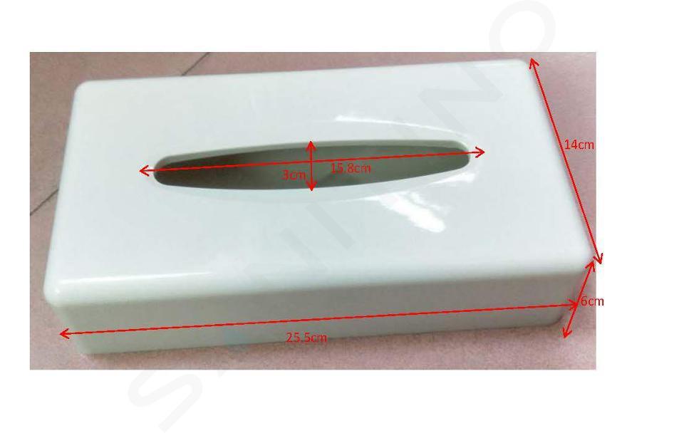 Novaservis Accessoires de salles de bain - Réserve de serviettes en papier, blanc/plastique 69087,1