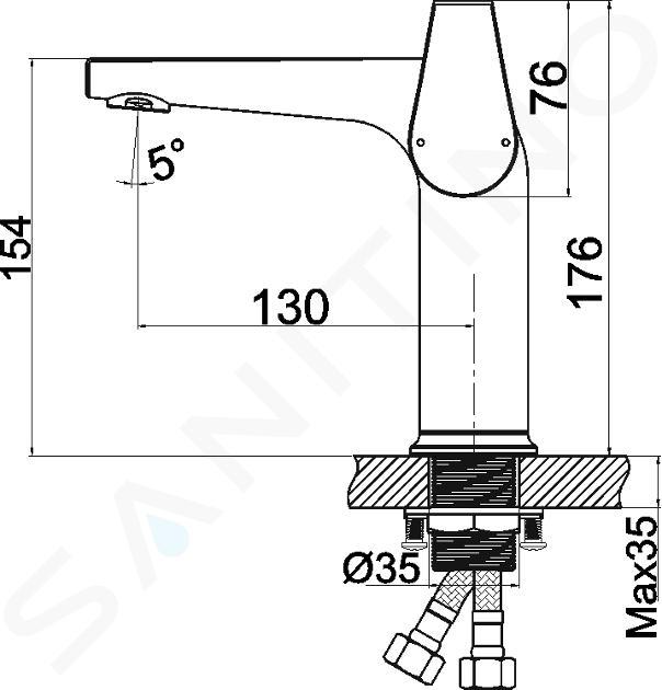 Novaservis Nobless Vision X - Mitigeur de lavabo avec vidage, chrome 42003,0