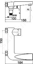 Novaservis Nobless Vision X - Robinetterie de baignoire, chrome 42020/1,0