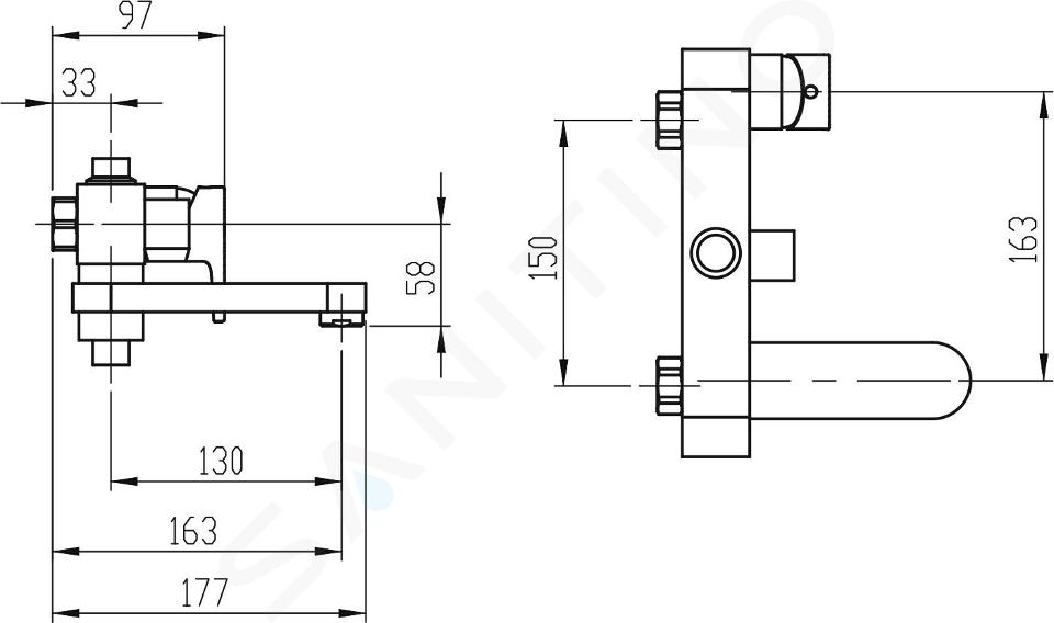 Novaservis Nobless Vision X - Robinetterie de baignoire, chrome 42023/1,0