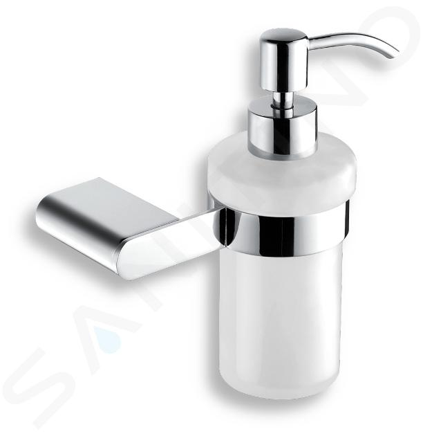 Novaservis Titania Naty - Distributeur de savon avec support, blanc/chrome 66655,0