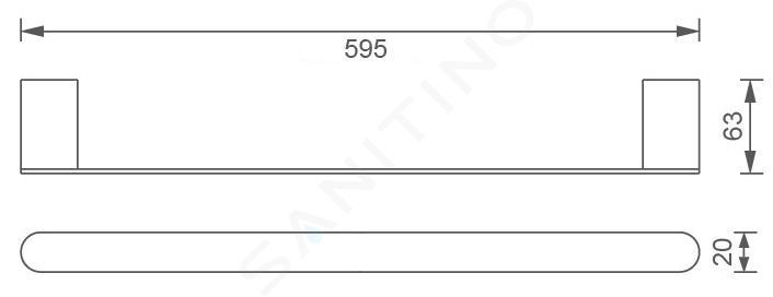 Novaservis Titania Naty - Portasciugamani, lunghezza 600 mm, cromo 66628,0