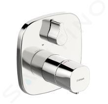 Hansa Living - Afdekset voor thermostatische badkraan, met omstelkraan voor 2 functies, chroom 81149572