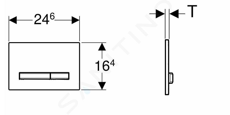 Geberit Sigma50 - Plaque de déclenchement Sigma50, noir 115.788.DW.2