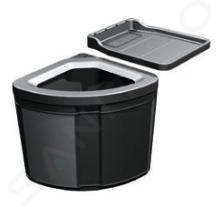 Franke Abfalltrennsysteme - Abfalleimer Pivot, eingebaut, schwarz 121.0307.563