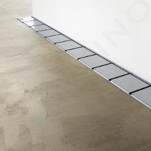 Ravak 10° - Sprchový odtokový žlab 850 mm, ke zdi, nerez X01629