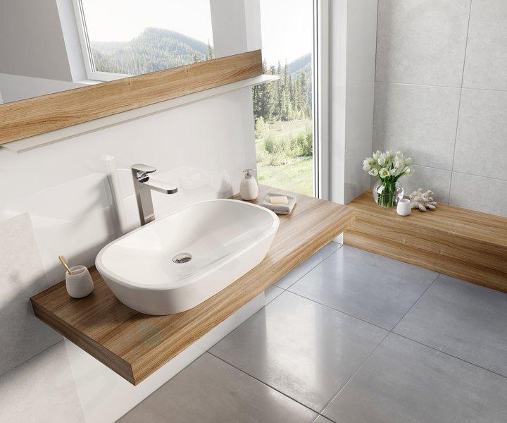 Ravak Ceramic - Umývadlo na dosku, 600x400 mm, biela XJX01160001