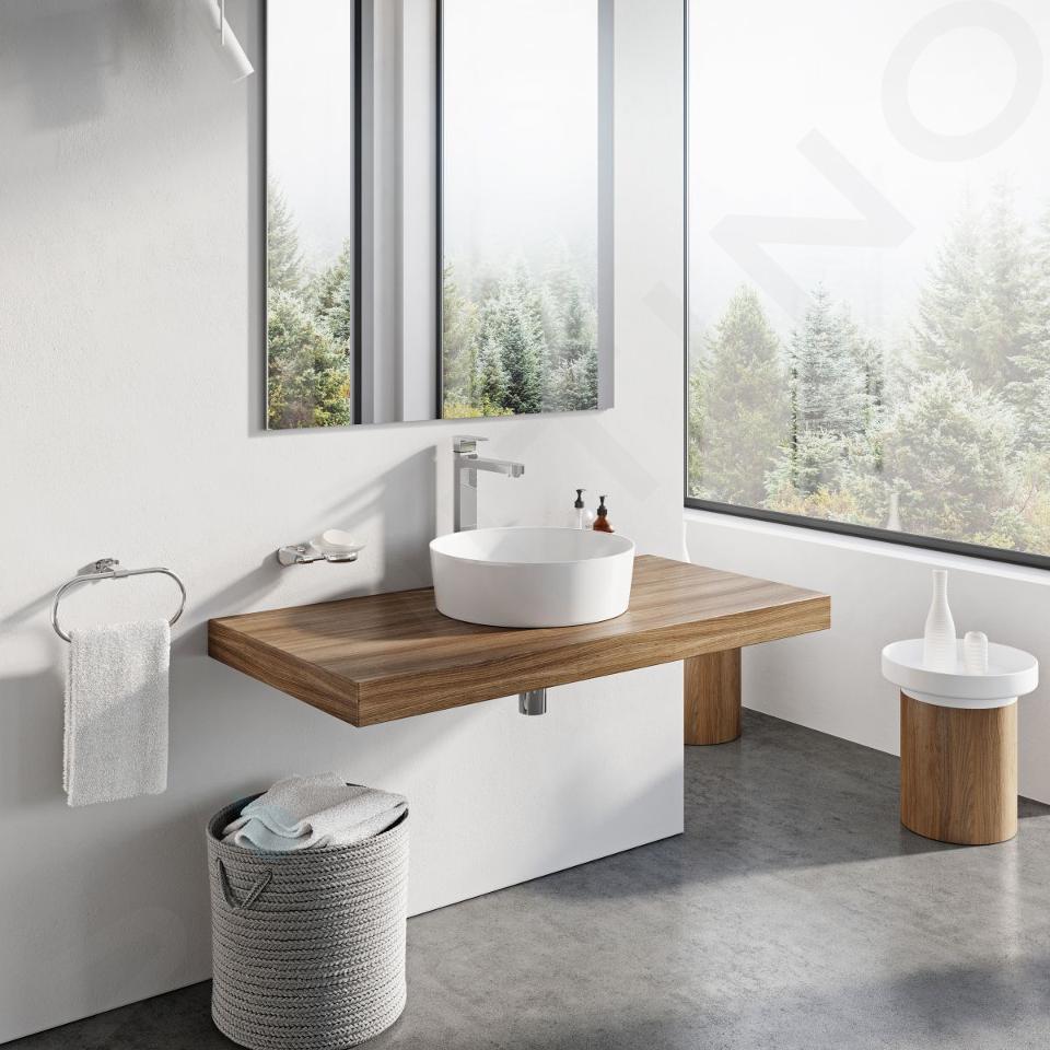 Ravak UNI - Umývadlo na dosku, priemer 400 mm, biela XJX01140001