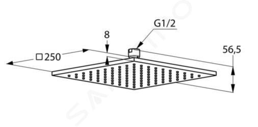 Kludi A-Qa - Soffione doccia, 250x250 mm, bianco/cromo 6442591-00
