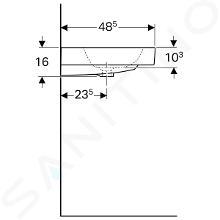 Geberit iCon - Lavabo, 600x485 mm, KeraTect blanc 124060600