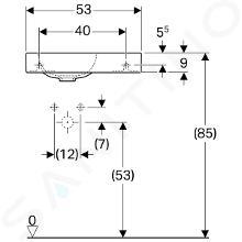 Geberit iCon xs - Lavabo, 530x310 mm, blanc 124053000