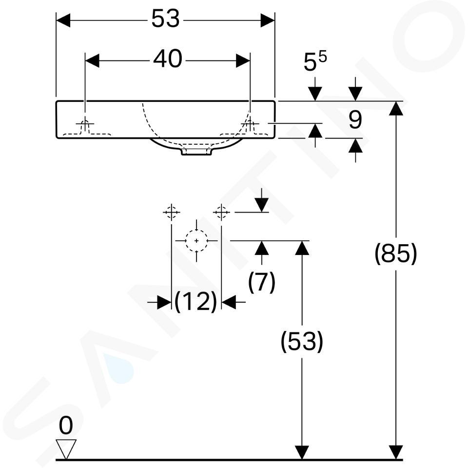 Geberit iCon xs - Lavabo, 530x310 mm, avec KeraTect, blanc 124153600