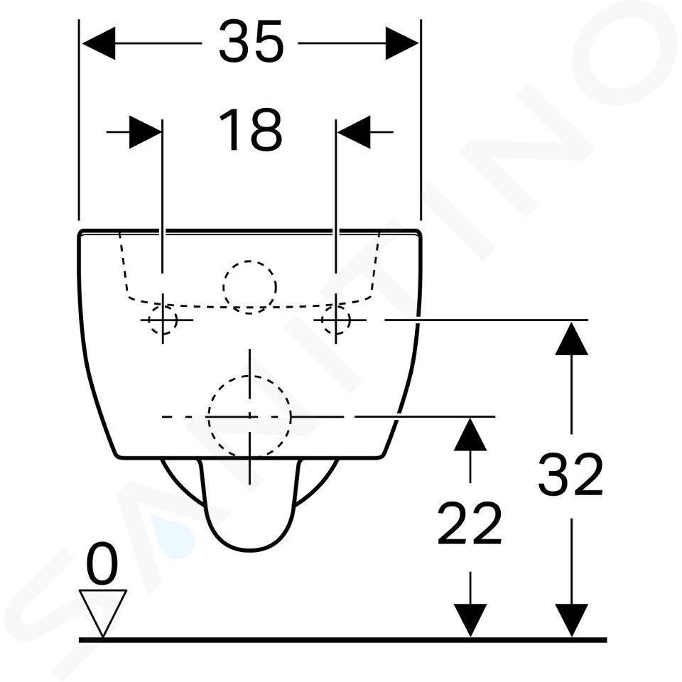 Geberit iCon xs - WC suspendu, 350x490 mm, blanc 204030000