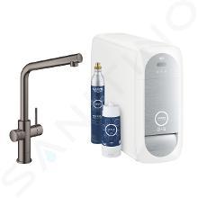 Grohe Blue Home - Spültischarmatur mit Kühleinheit und Wasserfilter, Hard Graphite 31454A01