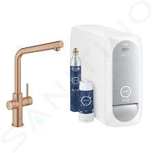 Grohe Blue Home - Spültischarmatur mit Kühleinheit und Wasserfilter, Warm Sunset gebürstet 31454DL1