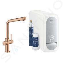 Grohe Blue Home - Spültischarmatur mit Kühleinheit und Wasserfilter, Warm Sunset 31454DA1