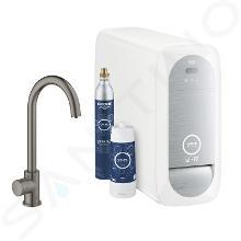 Grohe Blue Home - Drezový ventil Mono Connected, s chladiacim zariadením a filtráciou, kefovaný Hard Graphite 31498AL1