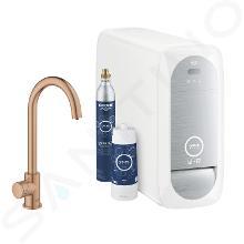 Grohe Blue Home - Spültischventil Mono Connected mit Kühleinheit und Wasserfilter, Warm Sunset gebürstet 31498DL1