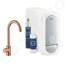 Grohe Blue Home - Spültischventil Mono Connected mit Kühleinheit und Wasserfilter, Warm Sunset 31498DA1