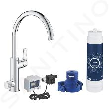 Grohe Blue Pure - Spülbecken BauCurve mit Filter UltraSafe, Chrom 30386000