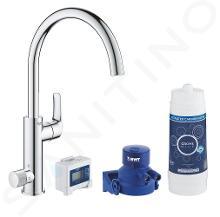 Grohe Blue Pure - Kit de démarrage avec mitigeur EuroSmart et filtration, chrome 30383000