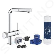 Grohe Blue Pure - Miscelatore da lavello Minte con funzione di filtraggio UltraSafe e doccetta estraibile, cromo 30393000