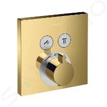 Hansgrohe Shower Select - Thermostatarmatur - Unterputz für 2 Verbraucher, Gold poliert 15763990