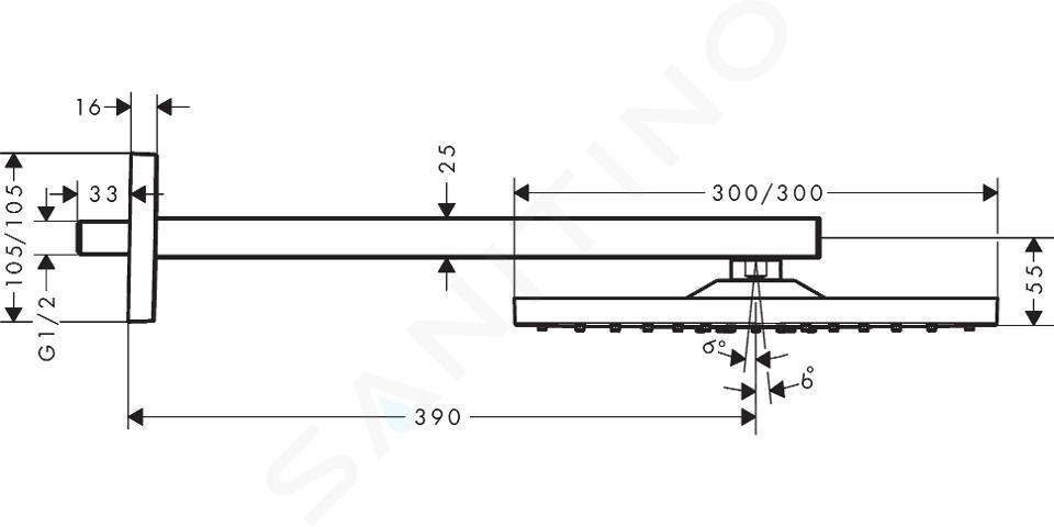 Hansgrohe Raindance E - Kopfbrause E 300 mit Duscharm, weißmatt 26238700