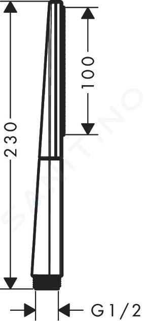 Hansgrohe Rainfinity - Sprchová hlavica, EcoSmart, matná biela 26867700