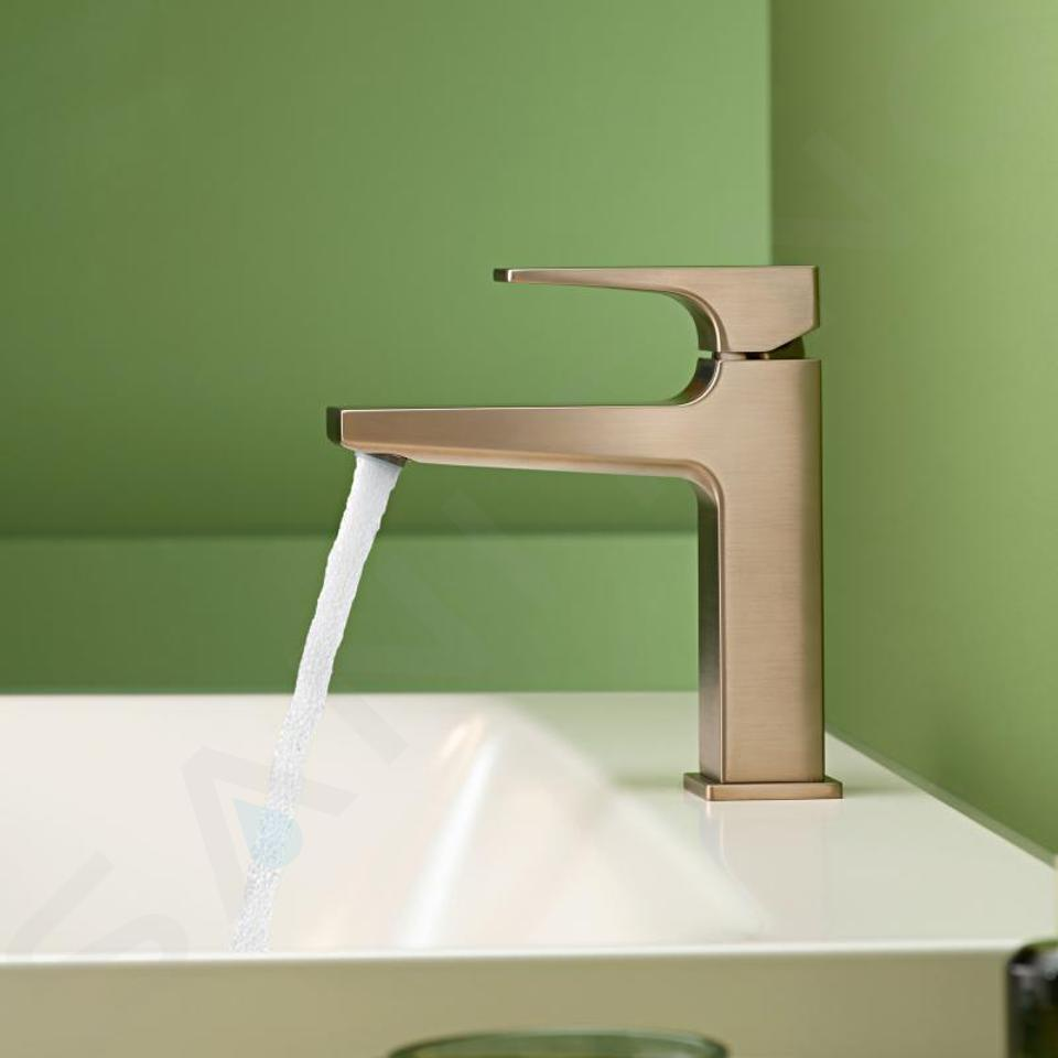 Hansgrohe Metropol - Waschtischarmatur mit Ablaufgarnitur Push-Open, Bronze gebürstet 32507140