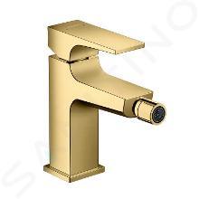 Hansgrohe Metropol - Bidetarmatur mit Ablaufgarnitur Push-Open, Gold poliert 32520990