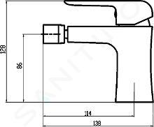 Novaservis Nobless Tina - Bidetkraan met afvoergarnituur, zwart mat 38011,5