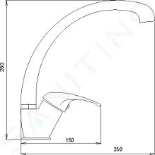 Novaservis Metalia 57 - Keukenkraan, grijs 57014,68