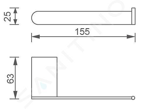 Novaservis Titania Naty - Porte-rouleaux, noir 66610,5