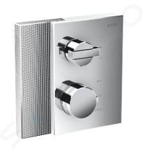 Axor Edge - Termostatická baterie pod omítku pro 2 spotřebiče, chrom/diamantový brus 46761000