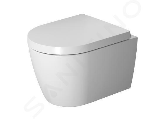 Duravit ME by Starck - Wandklosett mit WC-Sitz SoftClose, Rimless, Alpinweiß 45300900A1