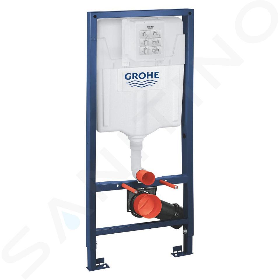 Grohe Rapid SL - Súprava predstenovej inštalácie, klozetu a dosky Ideal Standard, tlačidla Skate Cosmo, Aquablade, SoftClose, chróm 38528SET-KU