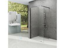 Ravak Walk-In - Sprchová stena Walk-In Wall 110, 1100x2000 mm, čierna/číre sklo GW9WD0300Z1