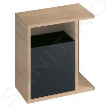 Geberit iCon - Seitenregal 370x400x245 mm, mit Staubox, Eiche natur 841139000