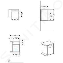 Geberit iCon - Seitenregal 370x400x273 mm, mit Staubox, lava 841238000