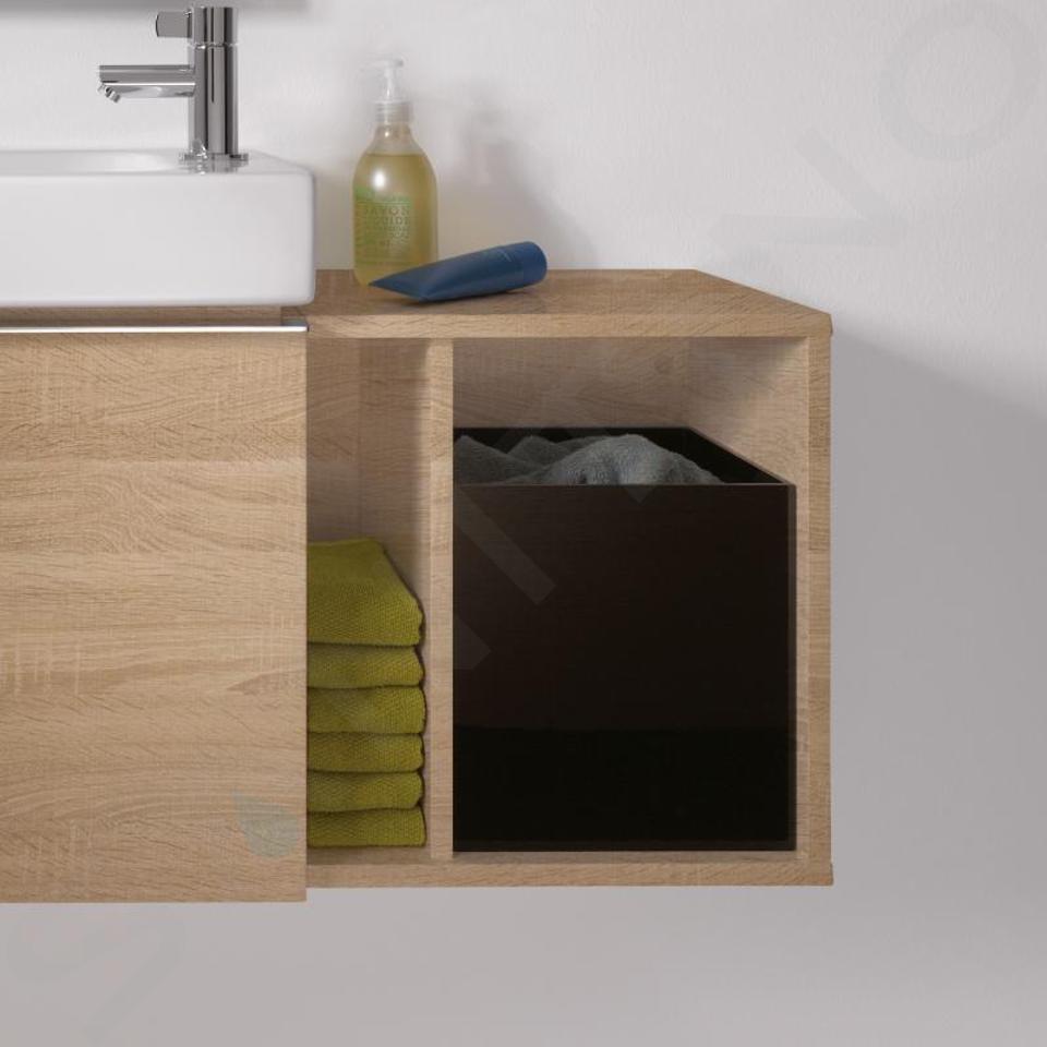 Geberit iCon - Seitenregal 370x400x273 mm, mit Staubox, Eiche natur 841239000