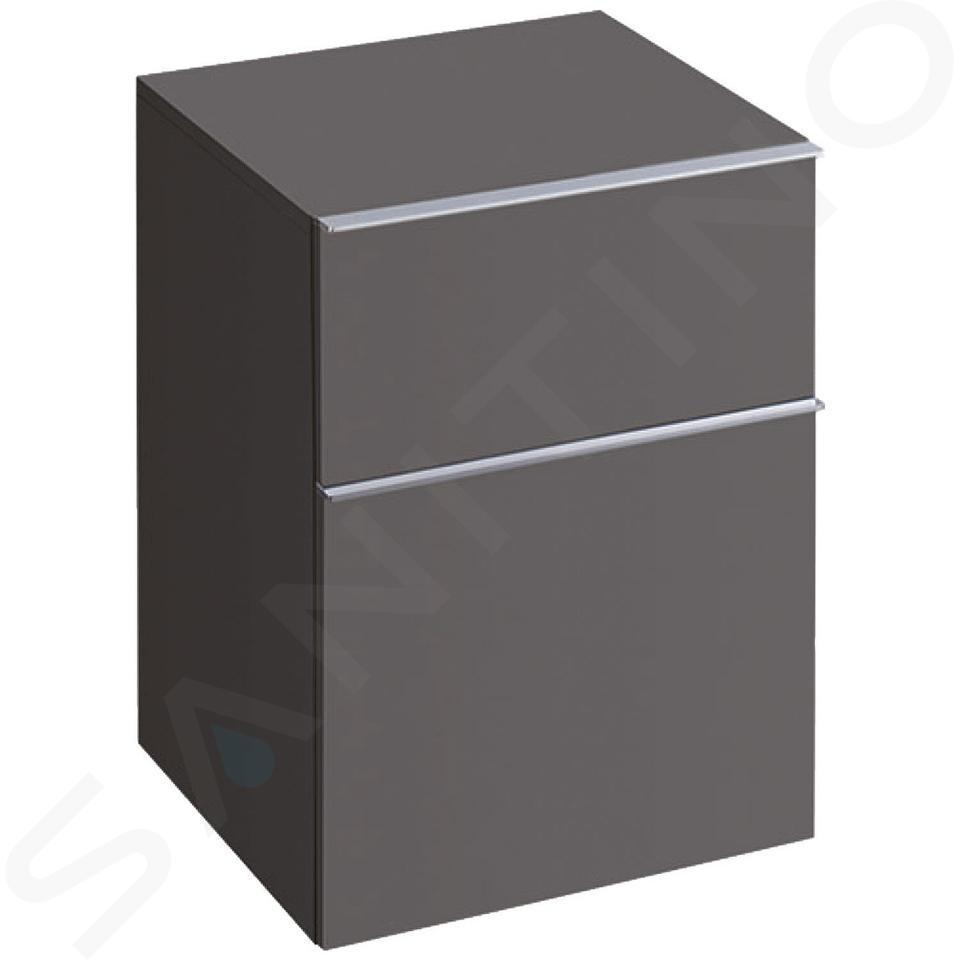 Geberit iCon - Onderbouw zijkast met 2 laden 450x600 mm, lava look 841046000