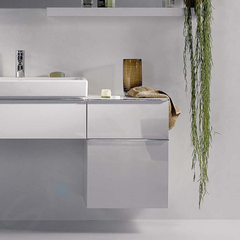 Geberit iCon - Onderbouw zijkast met 2 laden 450x600 mm, mat wit 841045000