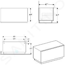 Geberit iCon - Meuble latéral 890x472 mm avec tiroirs, blanc mat 841090000